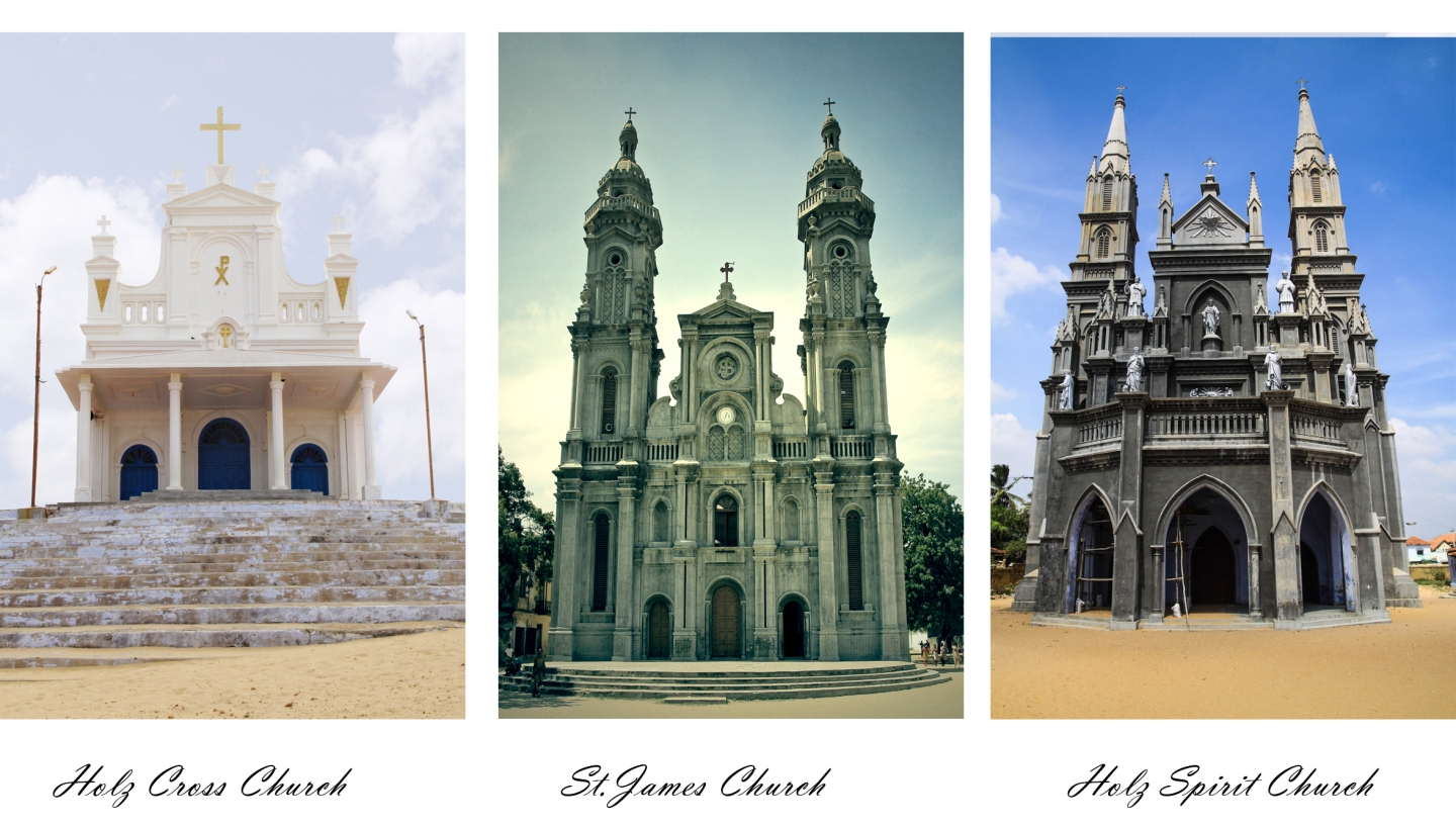 Manapad , India , church , Tuticorin , Beach , Christian , Tamil Nadu ,Thoothukudi